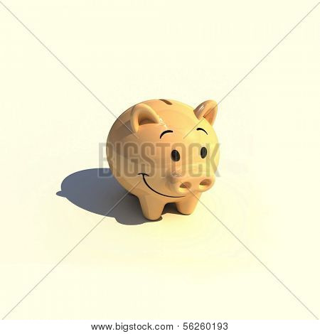 Piggy money-box. 3d illustration