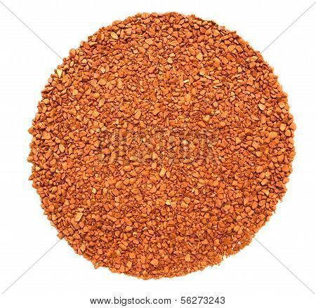 Soluble Coffee On The White Background