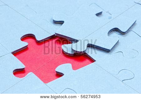 Jigsaw With One Piece Missing