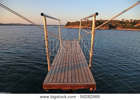 Laufplanke das Segelboot