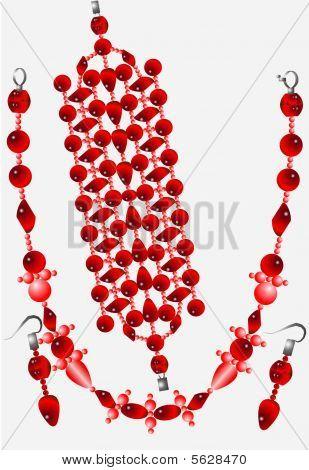 Set Of Female Ornaments