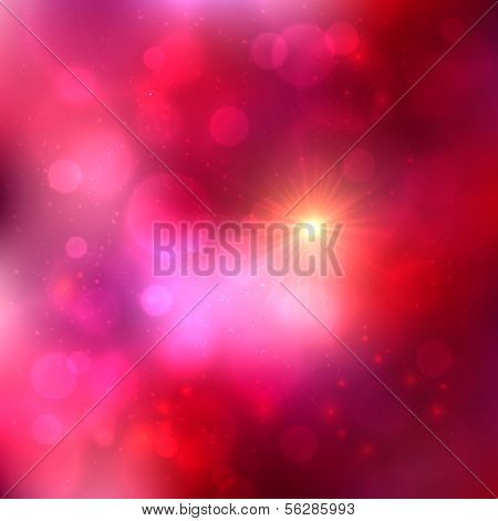 Bright pink abstract shining vector background