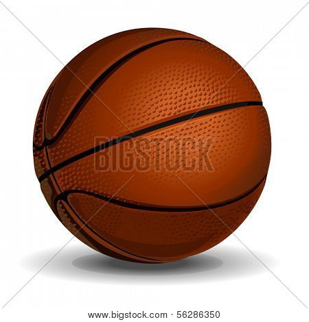 High quality isolated bascetball (streetball) ball for sport artworks