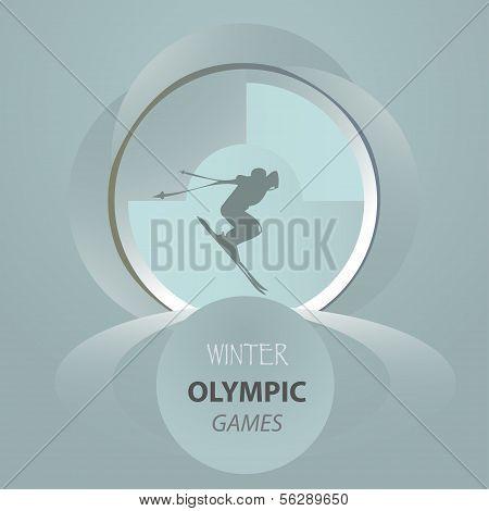 ?ongratulatory postcard flyer skier