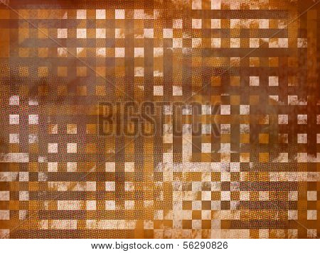Abstract Background In A Cage.