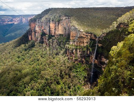 Waterfall In Blue Mountains Australia