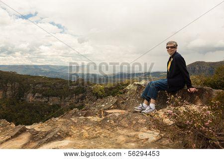 Landslide Lookout In Blue Mountains Australia