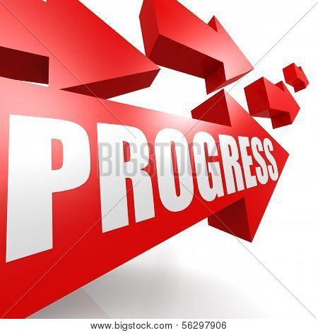 Progress arrow red
