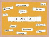 stock photo of trans  - Trans Fat Corkboard Word Concept with great terms such as fatty oils grams and more - JPG