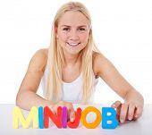 picture of scandinavian descent  - Attractive girl built the term minijob - JPG