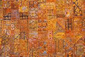 india fabric background patchwork ornate