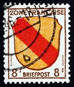Postage Stamp Germany 1945 Arms Of Baden