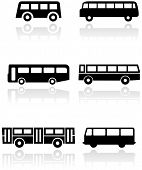 pic of camper-van  - Vector set of different bus or van symbols - JPG