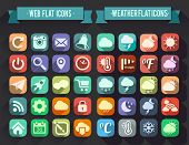 stock photo of universal sign  - Set of Flat Icons for Web and Mobile Apps - JPG