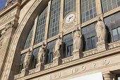 stock photo of gare  - Gare du nord in the city of Paris France - JPG