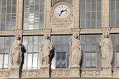 stock photo of gare  - Facade of the Gare du nord Paris France - JPG