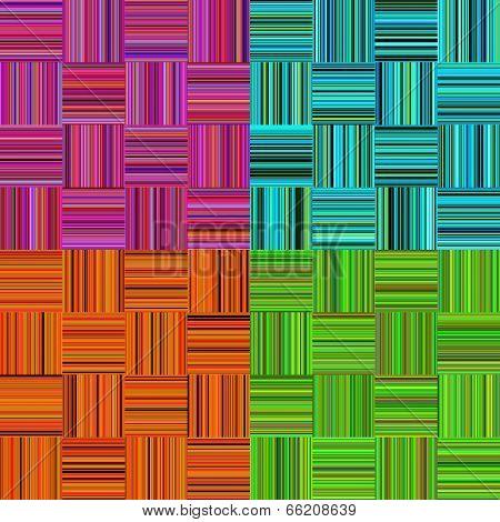 Set Striped Seamless Texture