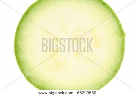 Fresh vegetable marrow.