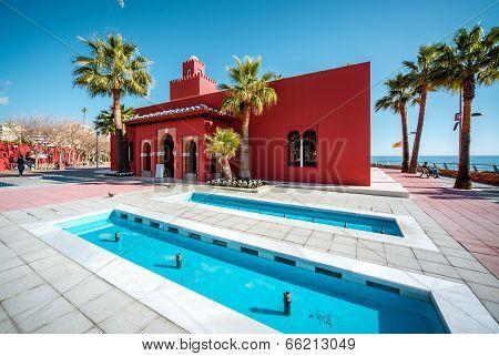 Arabic-style Bill Bil Castle Is A Landmark On The Benalmadena Coastline. Malaga, Spain