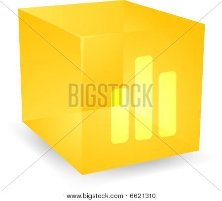 Bar Chart Cube Icon