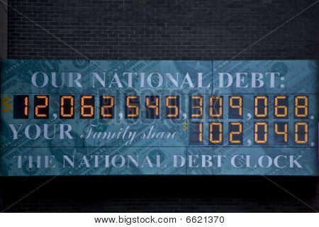 Relógio de dívida nacional dos EUA