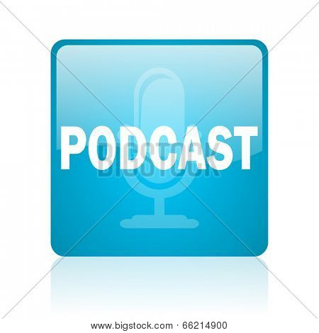 podcast computer icon on white background
