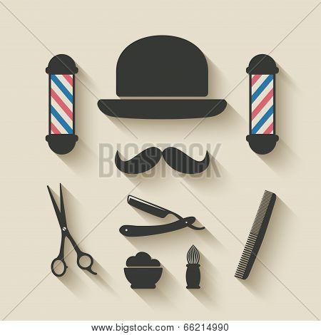 barber icon set