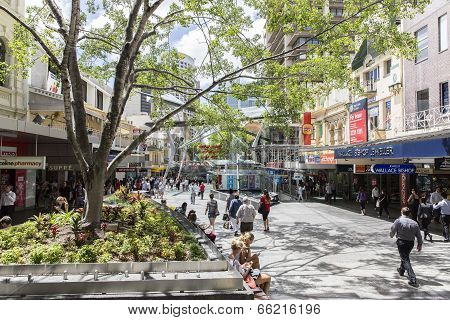 Brisbane city Queen Street Mall