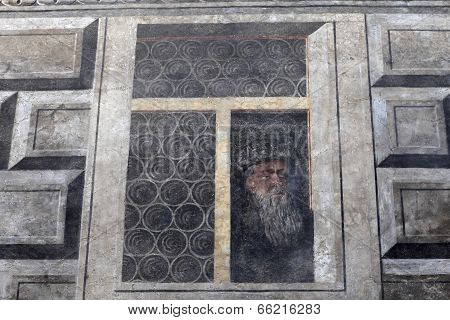 Painted Window On The Wall