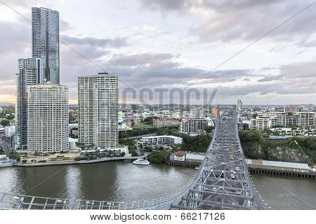 Brisbane city and Story Bridge architecture