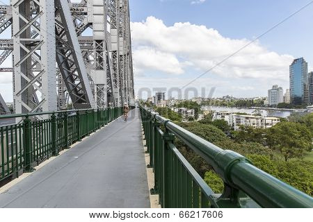 Brisbane Story Bridge architecture and CBD