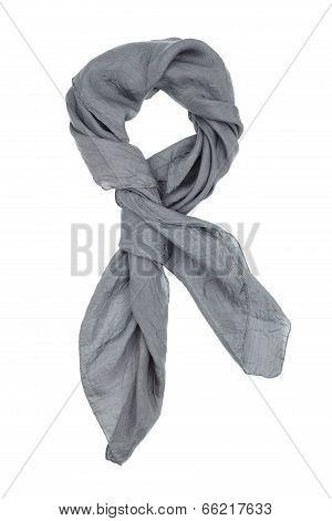 A gray silk neckerchief