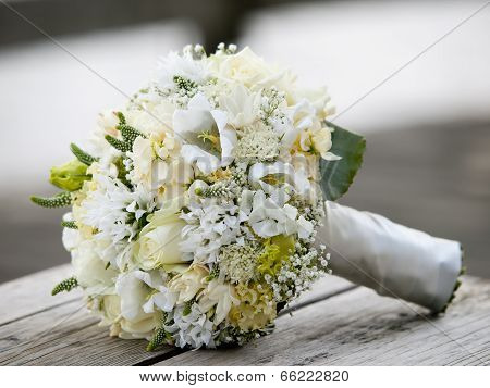 Beautiful Wedding Bouquet With White Flowers