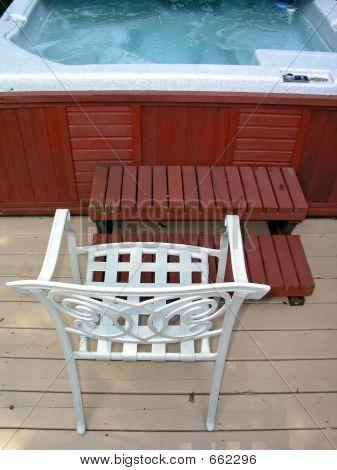 Chair At Hot Tub