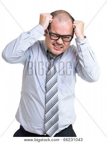 Businessman scratch head