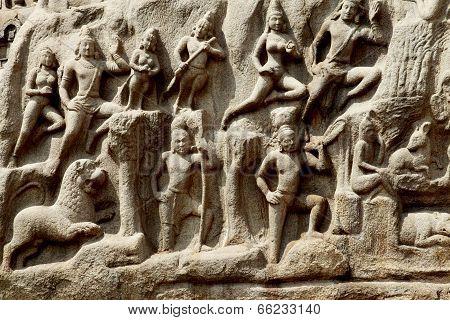 Arjuna's Penance, Mahabalipuram, Chennai, India