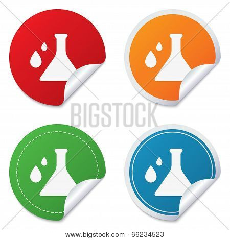 Chemistry sign icon.