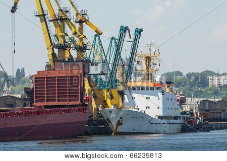 Freight Ships Loading