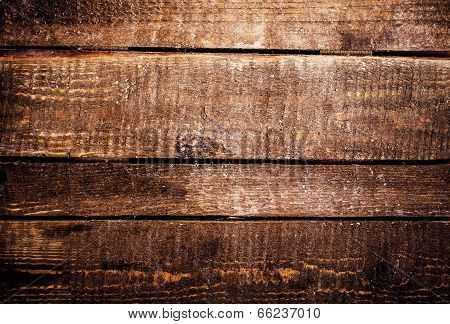 Dark Wood Texture. Grunge Wooden Background. Old Wood Textured Table, Horizontal Planks