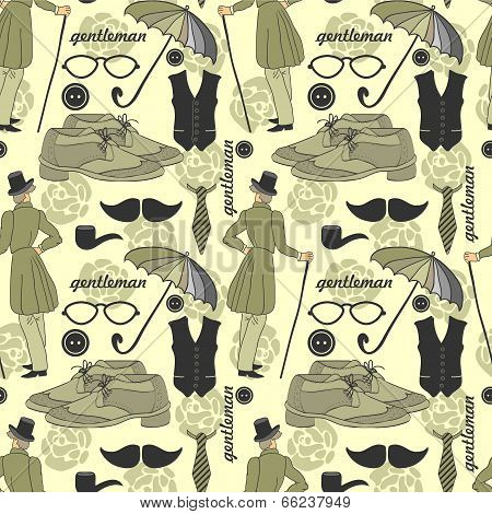 Dandy Style Beautiful Vintage Seamless Pattern