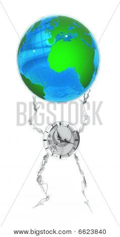 Earth Globe, Clockman