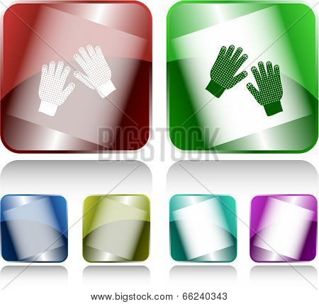 Gauntlets. Internet buttons. Vector illustration.