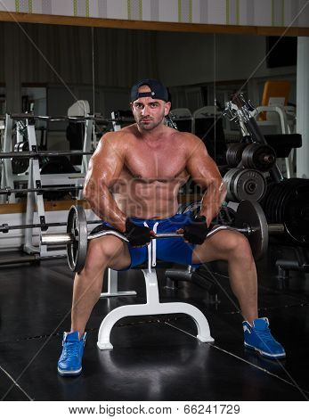 Muscular Man in The Gym