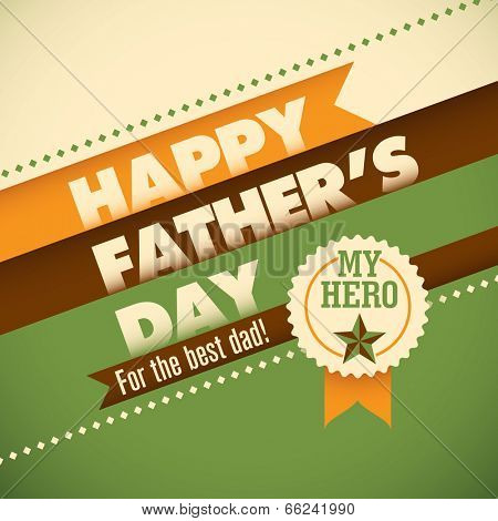 Father's day card with modern design elements. Vector illustrati