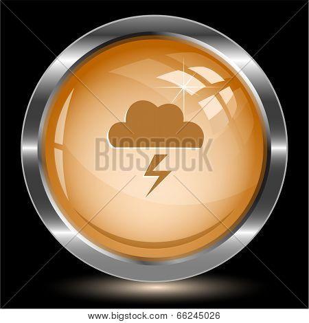 Storm. Internet button. Raster illustration.