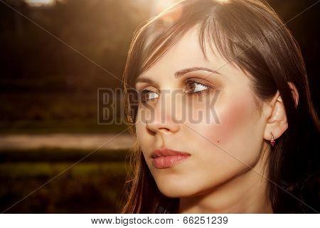 Beautiful Female Face.