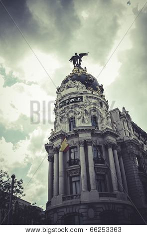 Metropolis, Image of the city of Madrid, its characteristic architecture