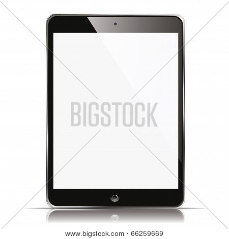 vector illustration of a tablet