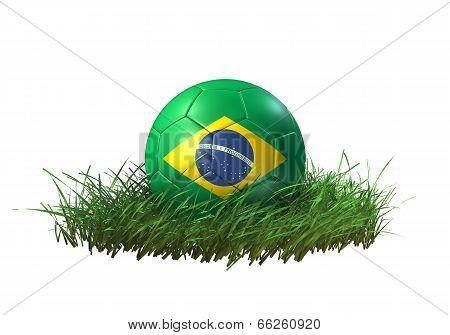 3D soccer ball Brazil