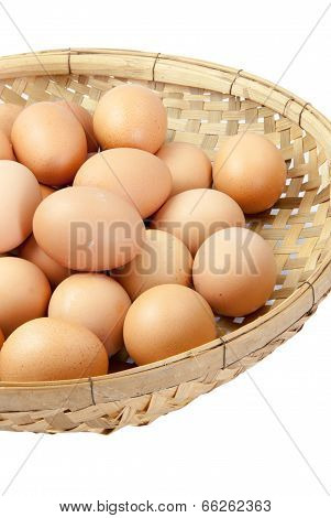 Eggs In The Winnowing Basket Isolate